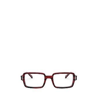 Ray-Ban RX5473 raidallinen punainen naaras silmälasit