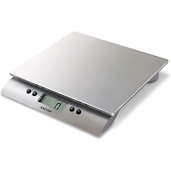 Salter Aquatronic Digital Kitchen Weighing Scales & Stylish Silver Design, Electronic Cooking Scale