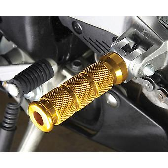 BikeTek Alloy Round Sports Footpegs Ducati Rider Gold