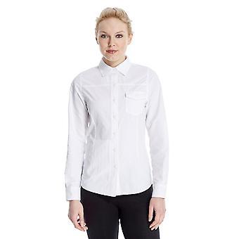 Nieuwe Peter Storm Women's reizen lange mouw shirt wit