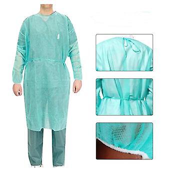 Unisex kertakäyttöiset suojaeristysten vaatteet sylkemisenesto vedenpitävä tahra