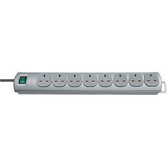 Brennenstuhl 1153393128 Primera Line Extension Socket 8 Way Silver 2m