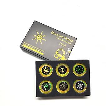6pcs/caixa Round Scalar Quantum Shield Energy Sticker Anti Protection