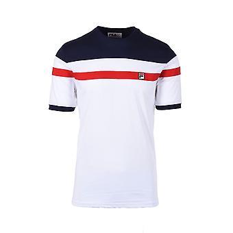 Fila Vintage Sten Cut & Sew Tee White/peacoat/red
