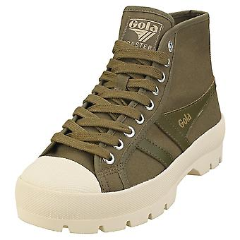 Gola Coaster Peak High Womens Plattform Utbildare i Khaki White
