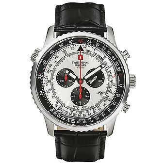Swiss Alpine Military 7078.9538 chronograph men's watch 45 mm