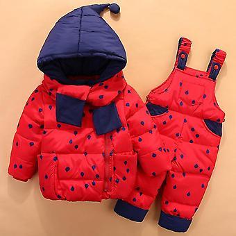 Winter Snowsuit Kids Down Jacket, Overalls Snowsuit 1-4 Years Coat
