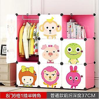 Baby Cartoon Wardrobe Resin Kids Closet Armoire Enfant Assembly Storage