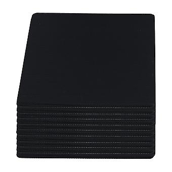 100pcs Black Computer Case Fan Dustproof Dust Filter Fits Standard 140mm Fans