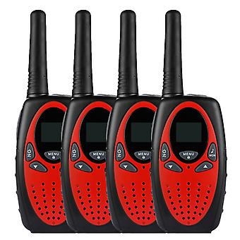 4x Radio Set 8 Kanaler Walkie Talkie Pmr Portable Radio Nå 5 km 2 Way