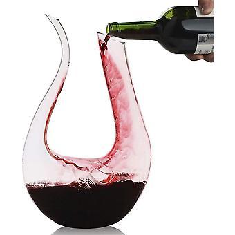 Wokex Dekanter,Dekanter 1.2L Wein-Dekantiergef Bleifreier Glasbelftungsweinkaraffe Perfektes