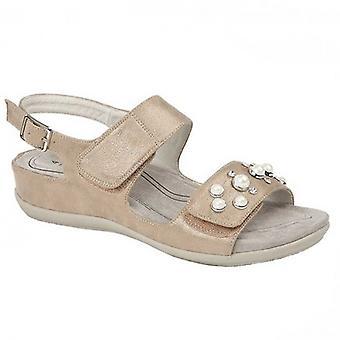 Boulevard Perla Ladies Jewelled Sandals Stone Shimmer