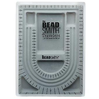 Beadsmith Bead Design Beading Board Harmaa Parvi Kannella 9x13 tuumaa, 1 lauta