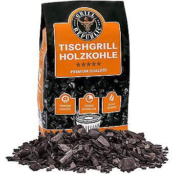 HanFei Tischgrill-Kohle 2,5kg / 100% reine Buchenholzkohle für rauchfreie Tischgrills wie den