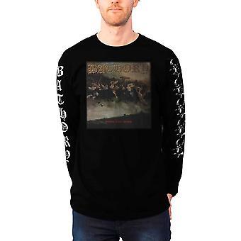 Bathory T Shirt Blood Fire Death band logo new Official Mens Black Long Sleeve