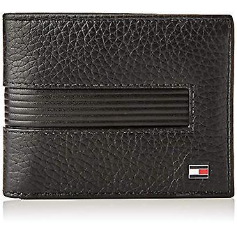 Tommy Hilfiger Downtown Mini CC Wallet & KEYFOB, Little Leather Goods Man, Black, One Size