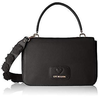 Love Moschino Pu+polyester Bag - Women's Shoulder Bags, Black, 6x19x29 cm (B x H T)