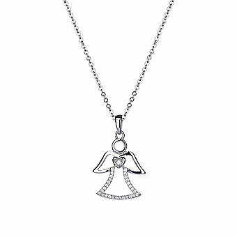 Kalini - Angel of Love Icons Pendant - 40cm +3cm extender - Silver - Jewellery Gifts for Women from Lu Bella
