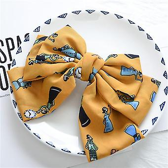 Women's summer satin double-layer bow barrettes hair ring