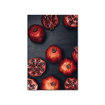 Nasiona granatu zbierania stołu i