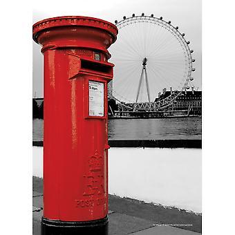 Pyramid International London Postbox A6 Postcard