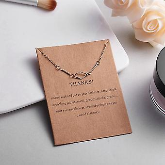 Merci collier avec ovale 18K cadeau plaqué or s'il vous plaît