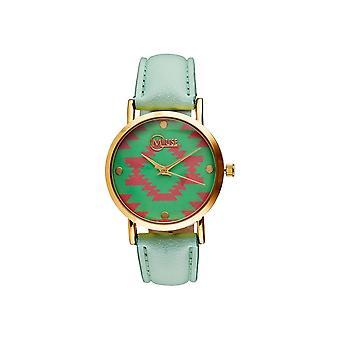 Muse - Golden Woman's Watch - Manila- - groen groen wijzerplaat groene armband