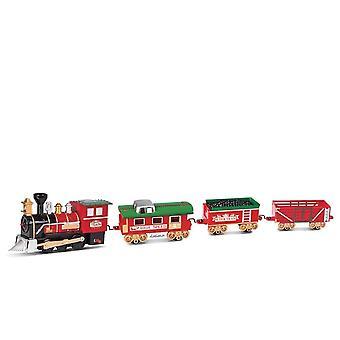 عيد الميلاد قطار السكك الحديدية الكهربائية مع ضوء LED، نموذج مسار الصوت، عيد الميلاد للأطفال