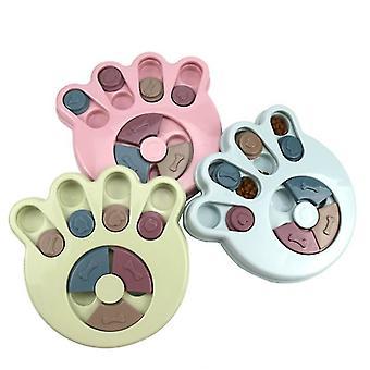 Paw tlač modrý pes zvýšiť iq interaktívne pomalé dávkovanie kŕmenie pet pes školenia misa az754