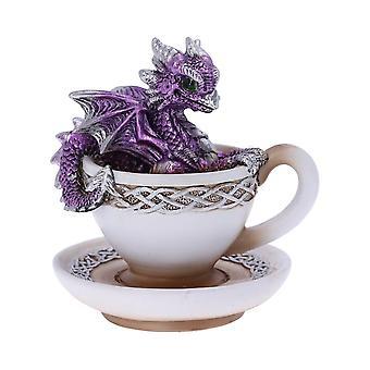 Dracuccino (Purple) Dragon Teacup Figurine