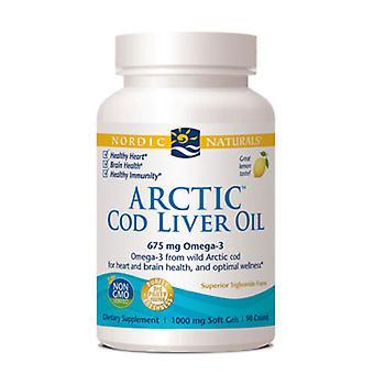 Nordic Naturals Arctic Cod Liver Oil, 1000 mg, Citron 90 gélules
