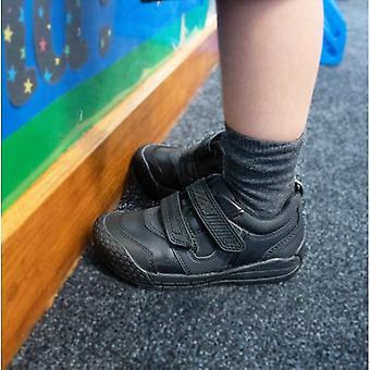 Start-Rite Strike Boys Leather Touch Fasten School Shoes Black