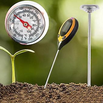 Нержавеющая сталь Почва Термометр Шток считывания Циферблат Дисплей