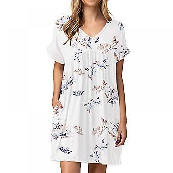 Lohill Ladies Plus Size Vestido suelto de verano Sundress Vacaciones Casual Ruffles Vestido de túnica