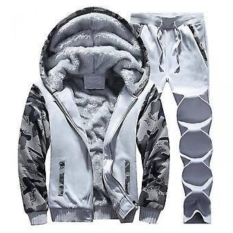 Men's Warm Hooded Jacket With Lower