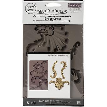 "Prima Marknadsföring Omdesign Mögel 5""X8""X8mm - Greco Crest"