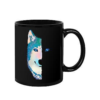 Wolf's Half Face Mug -SPIdeals Mallit