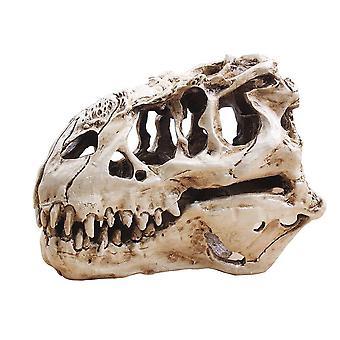 דינוזאור טירנוזאור גולגולת T רקס גולגולת מתנות מציאותי שרף מלאכת דינוזאור גולגולת מאובנים הוראה
