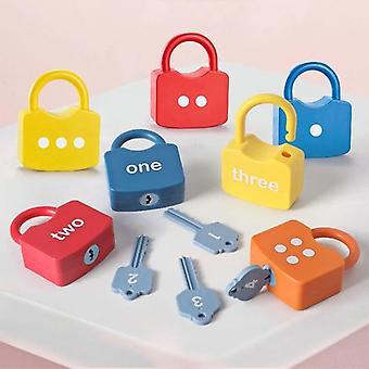 أقفال مفتاح المباراة مجموعة اللعب للأطفال أرقام التعليم المبكر لون المواد التعليمية المعرفية 