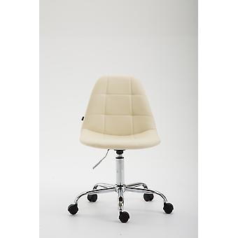 Chaise de bureau - Chaise de bureau - Bureau à domicile - Moderne - Beige - Métal - 47 cm x 56 cm x 79 cm