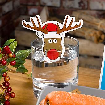 Christmas Craft - Rudolph Glass Decorations