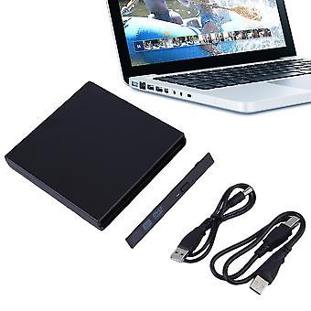 Taille portable usb 2.0 cd ide à usb étui externe mince pour ordinateur portable portable