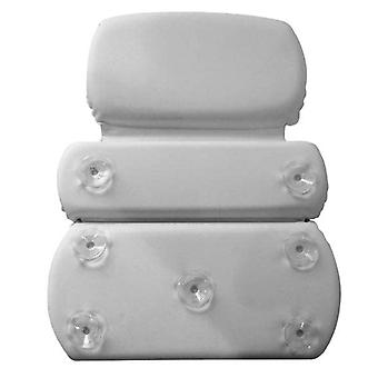 Gorilla Grip Spa Bath Pillow Headrest And Neck Support Thick Large 2 Panel Design Waterproof 7 Strong Suction Cups Comfortable Soft Bathtub Accessory