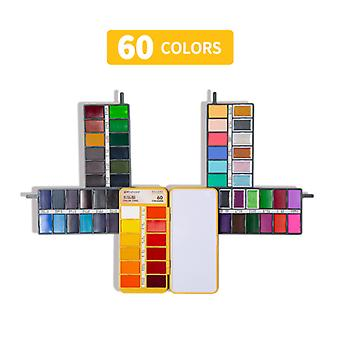 Solid Aquarel Verf Set Schilderij Set 60 kleuren voor beginners