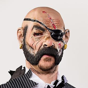 Moving mouth Deluxe LaTeX mask fits pirate pirate mask