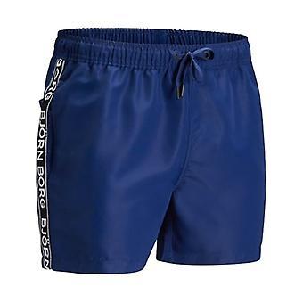Bjorn Borg Side Logo Tape Swim Shorts, Navy Blue