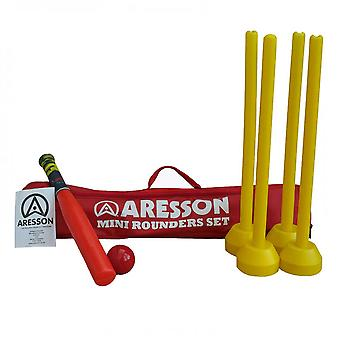 ARESSON Mini rounders set (bat, ball, stumps & carry bag)