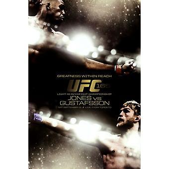 UFC - Jones vs Gustafsson affisch affisch Skriv