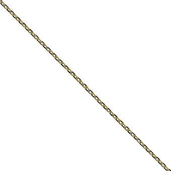9ct Gold 1.2mm wide bright cut Cable Pendant Chain 16 inch Only Suitable for Children