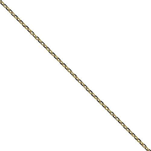9ct Gold 21x14mm Oval St Perigrine Pendant mit einem Kabel Kette 16 Zoll nur geeignet für Kinder